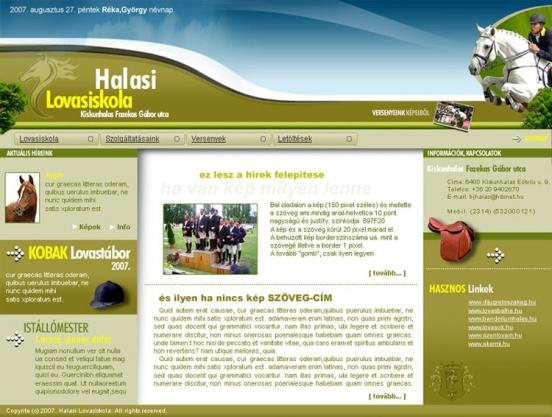 Lovasiskola weblap